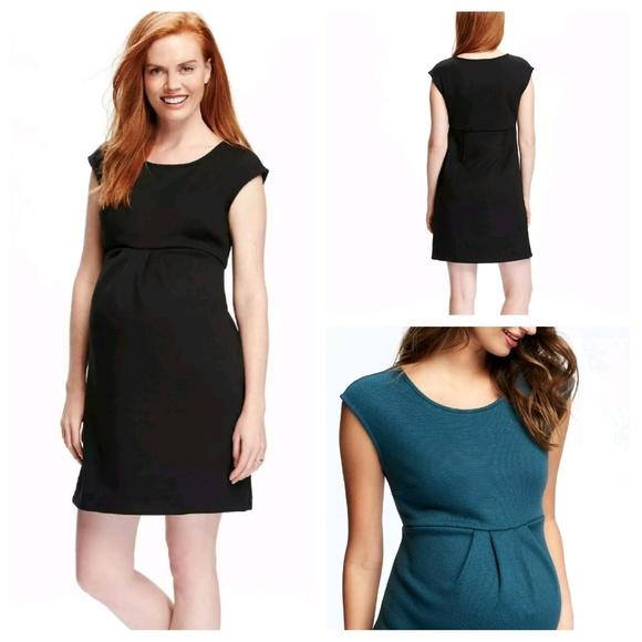 c2bd9bbb08a79 Old Navy Dresses | Black Ponte Knit Maternity Dress | Poshmark
